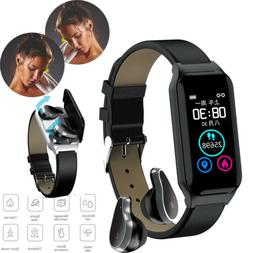 2 in 1 Bluetooth Headset Sports Activity Tracker Heart Rate