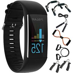 Polar A370 Fitness Tracker with 24/7 Wrist Based HR, Black +