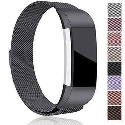 Maledan Bands Compatible with Fitbit Charge 2, Stainless Ste