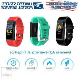 Bluetooth Fitness Smart Watch Activity Tracker Heart Rate wo