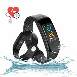 Bluetooth Smart Bracelet Fitness Activity Tracker with HR Bl