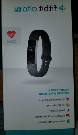 BRAND NEW IN BOX Fit Bit Alta HR Black LARGE Heart Rate Acti