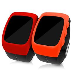 kwmobile Cases for Polar M400 - Set of 2 Silicone Covers  -