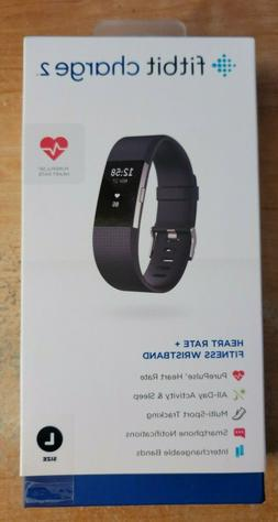 Fitbit Charge 2 Heart Rate + Fitness Wristband Black Large