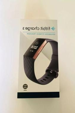 Fitbit Charge 3 Activity Tracker + Heart Rate - Rose Gold/Bl