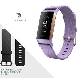 Fitbit Charge 3 Heart Rate + Fitness Band Activity Tracker L