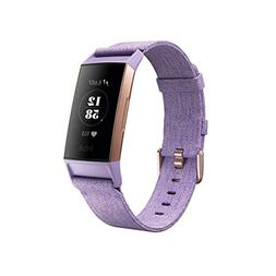 Fitbit Charge 3 SE Fitness Activity Tracker, Lavender Woven,