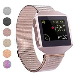 CRODI Compatible Fitbit Blaze Bands New Metal Frame, Stainle