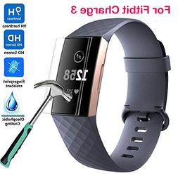 Xiaohua Compatible Fitbit Charge 3 Screen Protector, 9H Expl