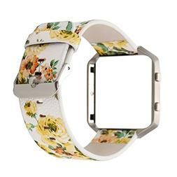 Creazy Floral Leather Strap Replacement WatchBand & Frame Ho