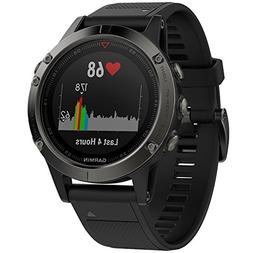 NEW Garmin Fenix 5 Sapphire Multisport GPS Watch - Black Ban