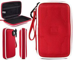 Fiesta Red EVA On-The-Go Storage Case for Fitness Tracker Wr