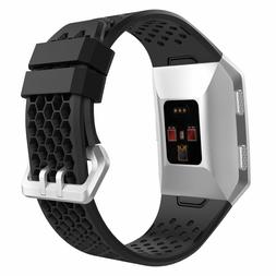 fitbit ionic soft silicone perforated adjustable durable