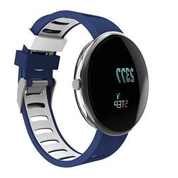 Fitness Tracker Activity Tracker with Heart Rate Monitor, Bl