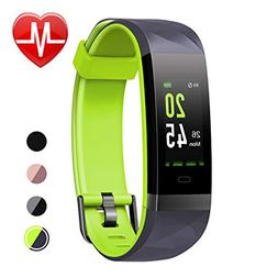 LETSCOM Fitness Tracker HR Color Screen, Heart Rate Monitor,