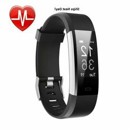 Letscom Fitness Tracker HR Activity Watch Heart Rate Step Co