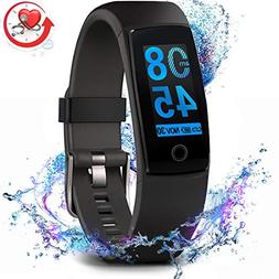 fitness tracker waterproof activity tracker with heart