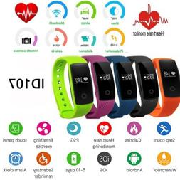 id107 smart watch bracelet heart rate monitor
