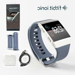Fitbit Ionic GPS Smart Watch-Large and Small Size Bands Fitn
