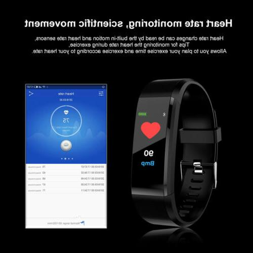 115plus Color Display Heart Fitness Track Black AC1421
