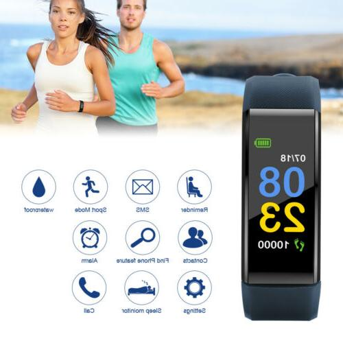 115plus heart rate blood pressure watch bluetooth