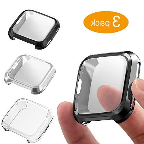3 packs screen protector compatible fitbit versa