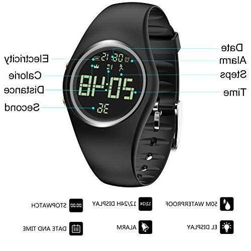 3D Wristband IP68 Fitness Tracker with Track Steps/Distance/Calorie/Clock/Timerfor Walking Kid