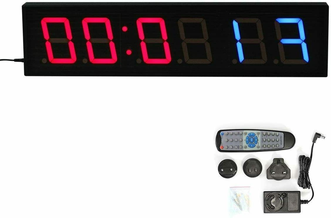 4 6 led interval timer gym wall