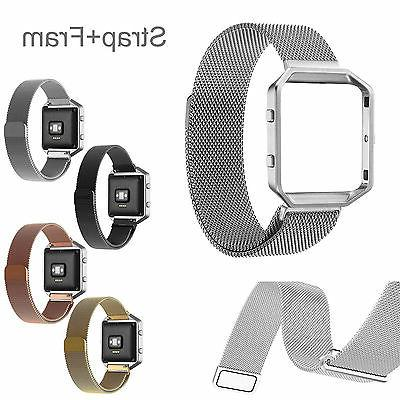 7 Milanese Magnetic Stainless Watch +Frame Fitbit Blaze