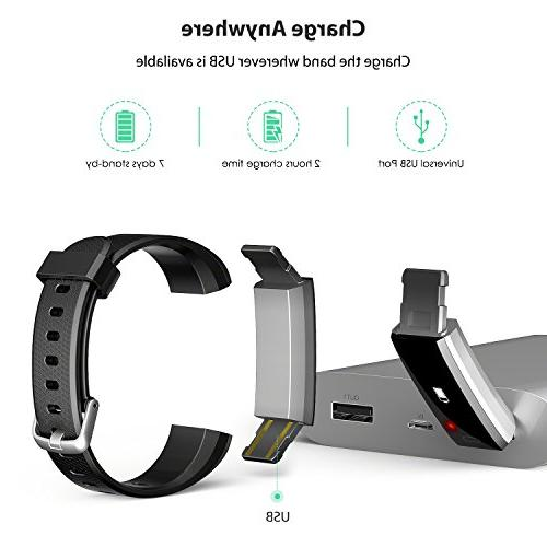 wesoo Fitness Tracker, Fitness Watch Activity Tracker Band with Sleep Pedometer with Band for iOS Android