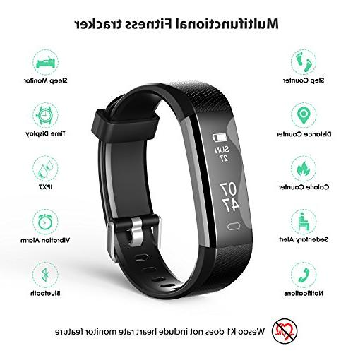 Fitness Tracker, Fitness Watch: with Bracelet Pedometer Replacement Band Women