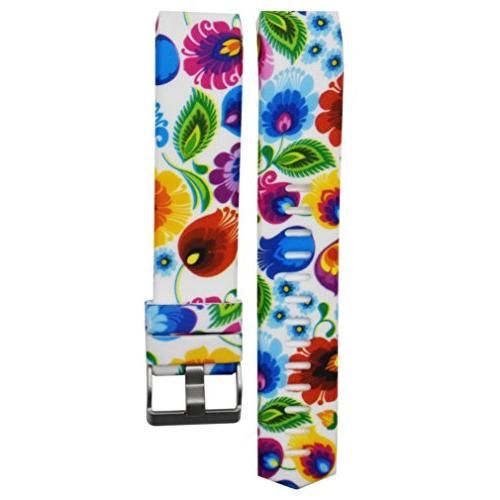 For Fitbit Charge 2 Bands, Colorful Pattern Silicone Bands,