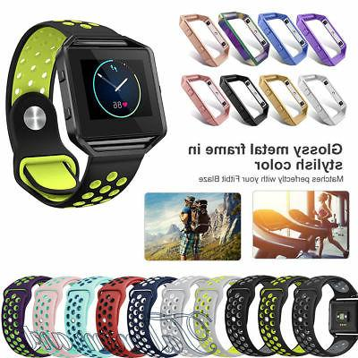 Replacement Silicone Sport Band Bracelet Strap + Frame For F