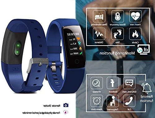 Waterproof Fitness Tracker Color Screen Sport Smart with Heart Calories Pedometer Sleep Monitor Call/SMS Remind Gift.