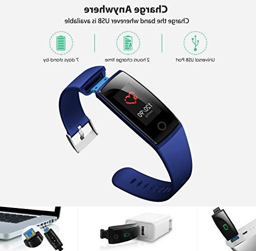 Waterproof Health Tracker,MorePro Tracker Smart Tracker Heart Calories Call/SMS Remind for Smartphones