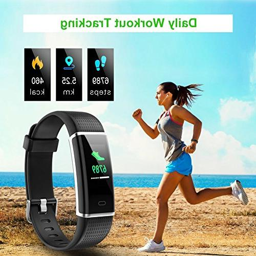 YAMAY Fitness Tracker with Heart Fitness Watch Monitor 14 Sports Mode,Pedometer for Kids