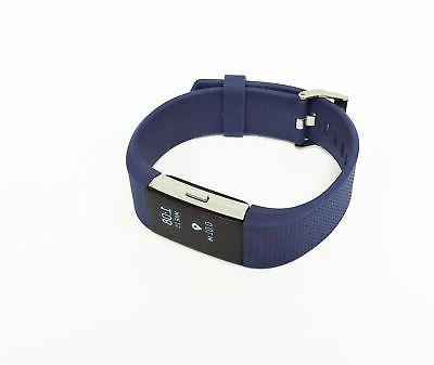 Fitbit 2 Heart Rate Activity Large Blue