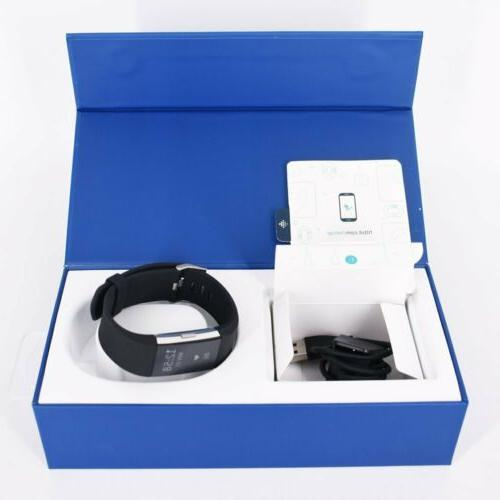 Fitbit Charge Rate Monitor Tracker FB407SBUL Black