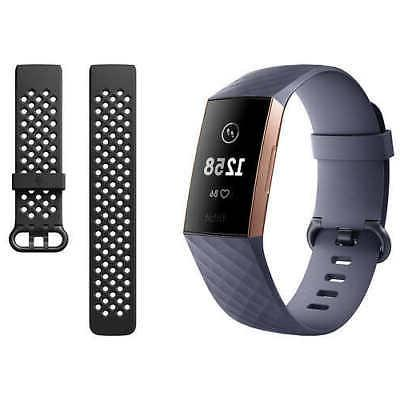 charge 3 activity tracker bundle rose gold