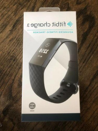 charge 3 fitness activity tracker graphite black