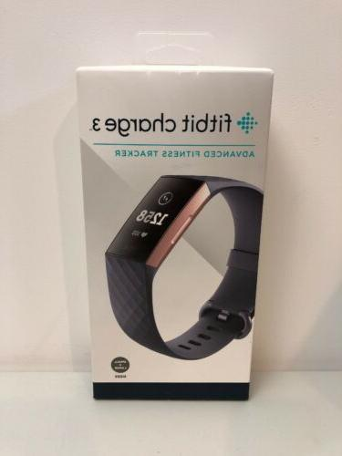 charge 3 fitness activity tracker rose gold