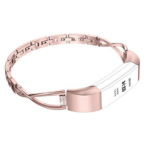 compatible fitbit alta bands small silver rose