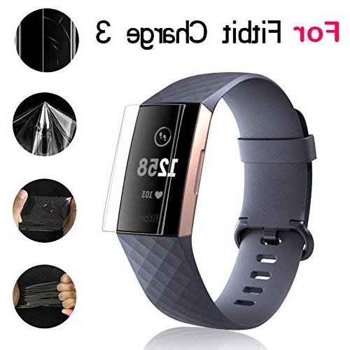 Xiaohua Fitbit 3 Screen Protector , 3 Smartwatch Protectors HD Clear Film Anti-Bubble Screen