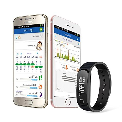 Jarv resistant Fitness Tracker Activity Band Smart with Display, Wireless Sync Day
