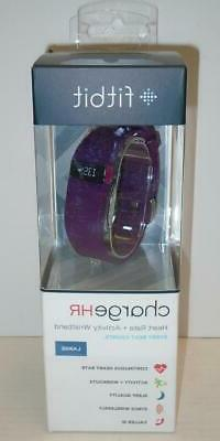 FITBIT FB405PML Charge HR Activity Tracker with Heart Rate M