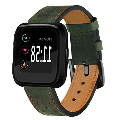 fitbit versa bands perforated leather