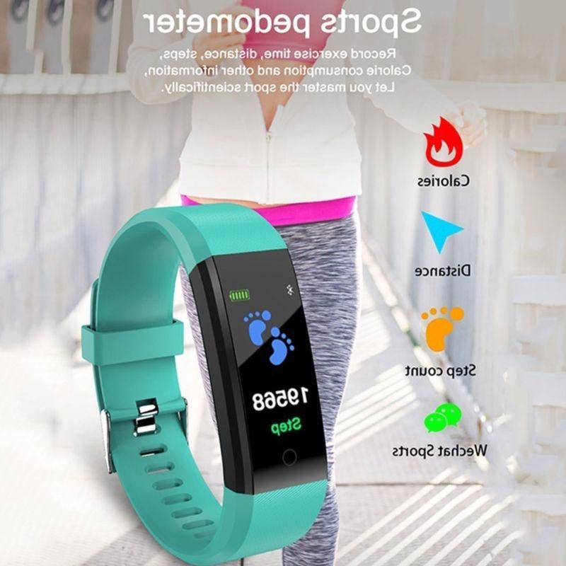Smart Rate Oxygen Blood Pressure Fitness Tracker Sport