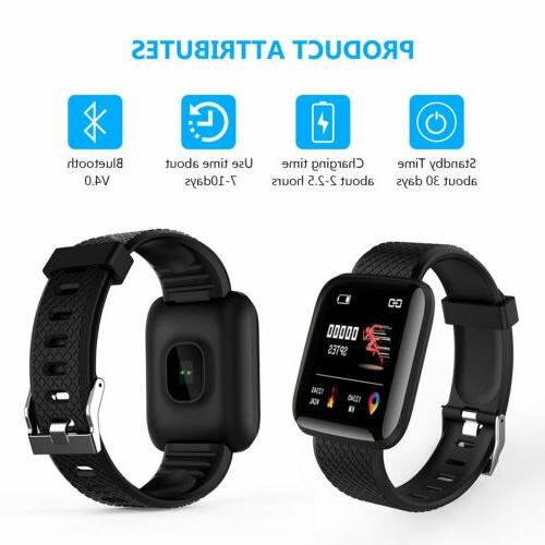 Fitness Activity Tracker Watch Band Heart Oxygen