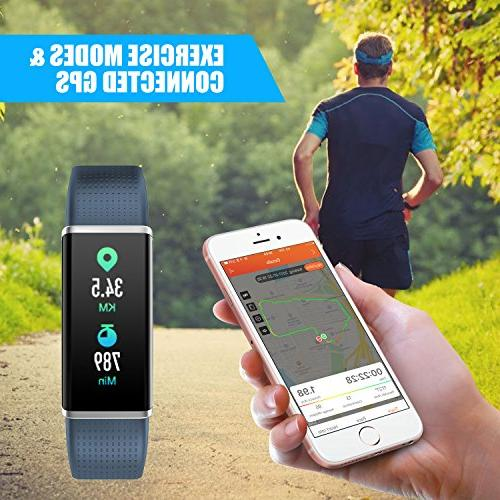 LETSCOM Fitness Tracker, Heart Rate Monitor Color Step Calorie Sleep Pedometer, Watch Kids Women and