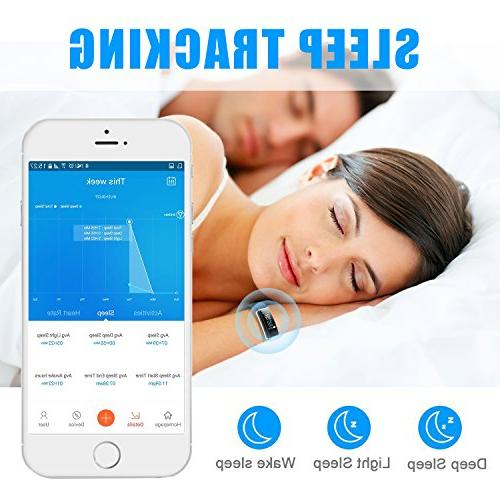 LETSCOM Tracker, Rate Color IP68 Step Counter, Calorie Counter, Sleep Monitor, Pedometer, Smart Watch and